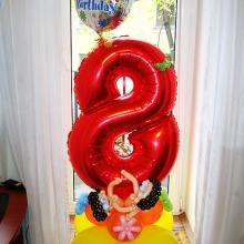 Цифра 8 и человечки из шаров