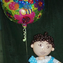 Девочка из шаров в подарок