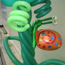 Часть арки из воздушных шаров