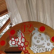 Часы из картона новогодние