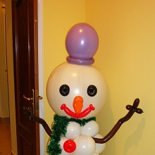 Снеговик из шариков