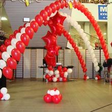 Украшение воздушными шарами в Максидоме