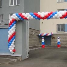 Воздушные шары на открытие отделения полиции