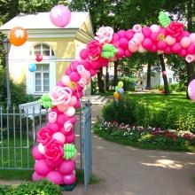 Розовая арка на вход