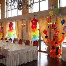 Украшение Дня рождения шарами