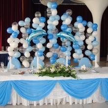 Свадебное оформление шарами