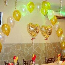 Украшение воздушными шарами к свадьбе