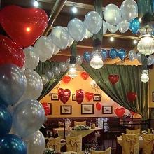 Свадебное оформление шарами ресторана